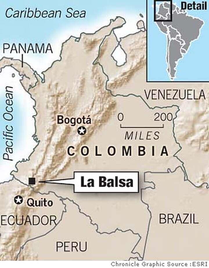 La Balsa, Colombia. Chronicle Graphic