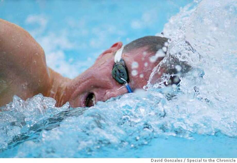 10 November 2004: Michael McLean during Stanford's triple distance meet vs. California at the Avery Aquatic Center in Stanford, CA. Photo by David Gonzales Photo credit mandatory: David Gonzales Photo: David Gonzales