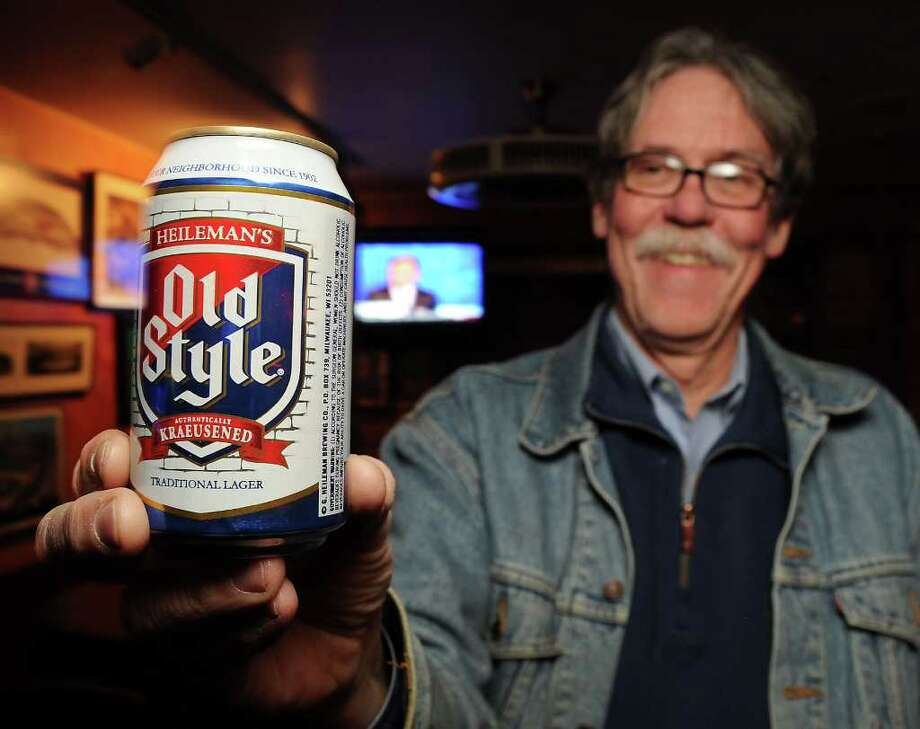 Kent Marshall with an Old Style beer at T.K. Bittermans bar photographed Friday Jan. 13,2012. (Dave Rossman/For the Chronicle) Photo: Dave Rossman / © 2012 Dave Rossman