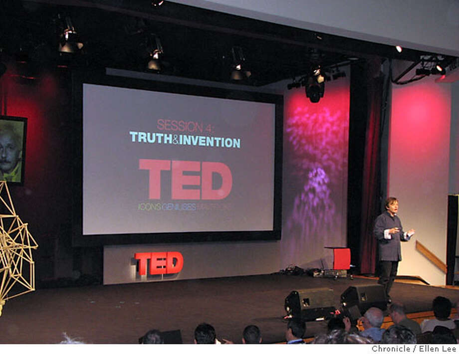 Chris Anderson Credit: Ellen Lee  Ran on: 03-11-2007  Ted Conference organizer Chris Anderson introduces a session on truth and beauty. Photo: Ellen Lee