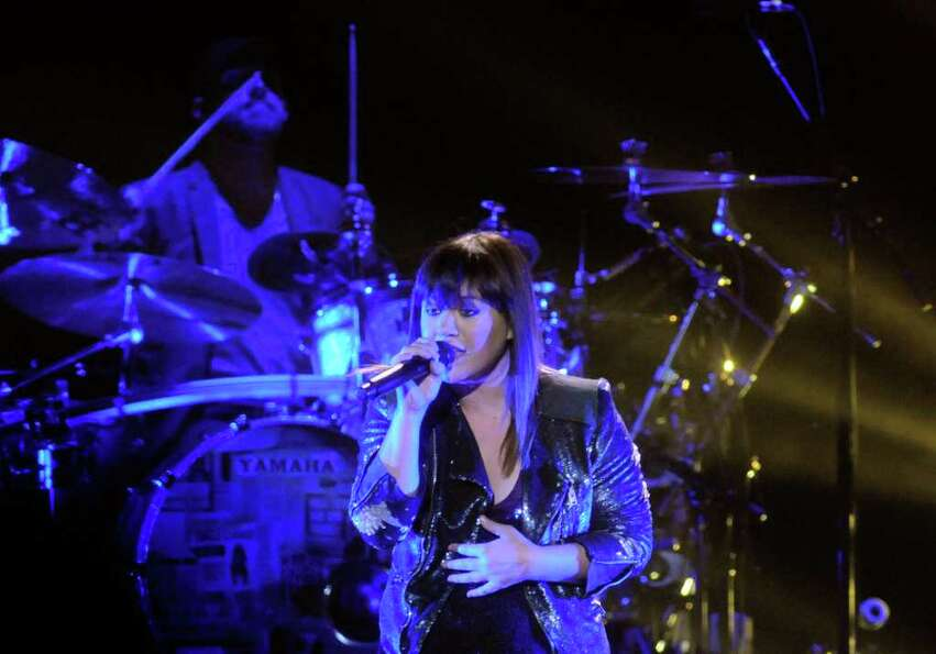 Kelly Clarkson performs at the Times Union Center in Albany,NY Tuesday, Jan.17, 2012. ( Michael P. F
