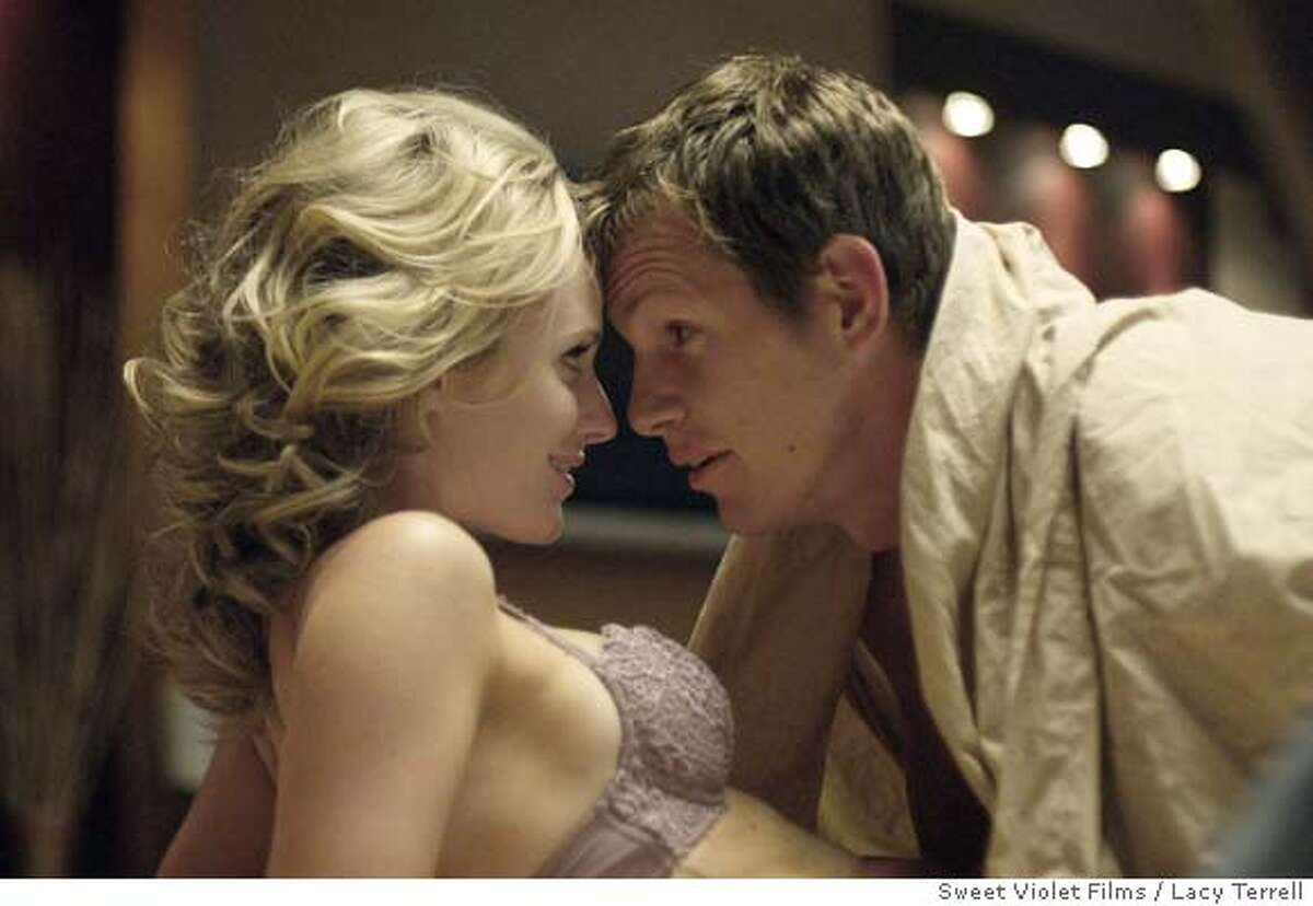 """Jennifer Siebel and Kip Pardue in 2007 Sweet Violet film's """"The Trouble With Romance"""" Photo courtesy of Sweet Violet Films"""