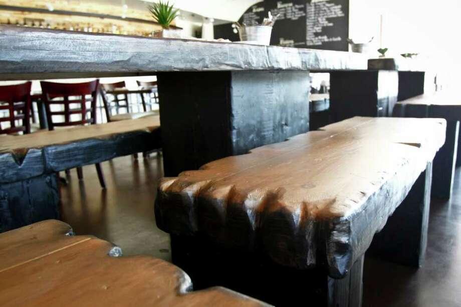 Convivio Tapas Bar & Lounge features a sleek interior décor. Photo: Michael Paulsen / © 2011 Houston Chronicle