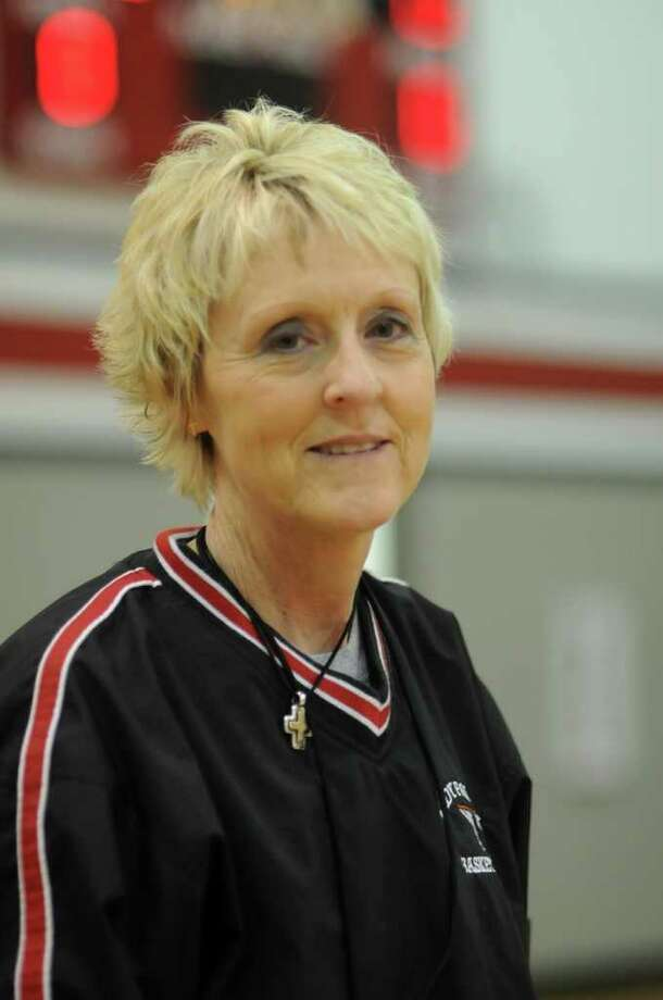 Huffman Hargrave Head Girls Basketball Coach Amy Daniels Photo: Jerry Baker