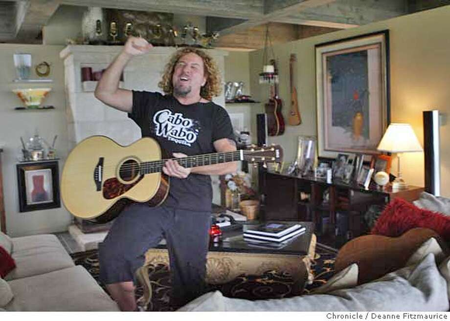 hagar_062_df.jpg  Sammy Hagar, one time front man for Van Halen will be inducted into the Rock-n-roll Hall of Fame. He is photographed at his Mill Valley home. Photographed in Mill Valley on 2/27/07. Chronicle Photo / Deanne Fitzmaurice Mandatory credit for photographer and San Francisco Chronicle. No Sales/Magazines out. Photo: Deanne Fitzmaurice