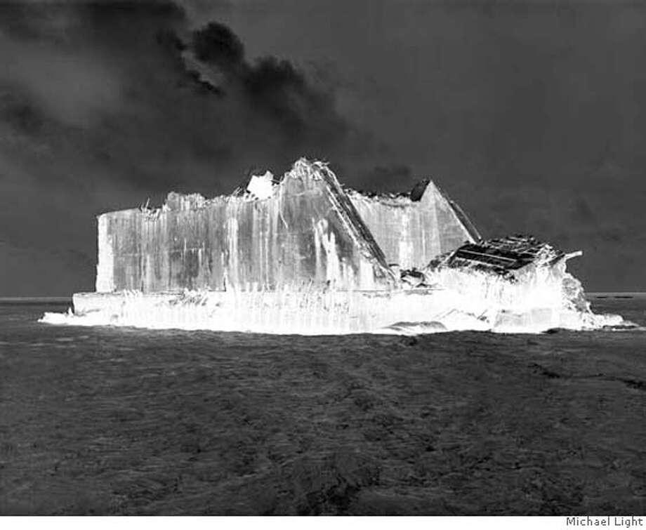 Michael Light Bikini Atoll 06.02.03. #13: Radioactive Bunker Facing BRAVO  Crater