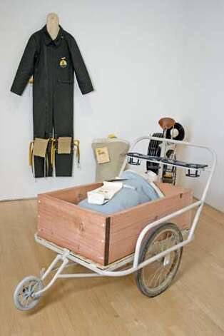 Amy Franceschini: Delivery trike and uniform. Photo: Amy Franceschini