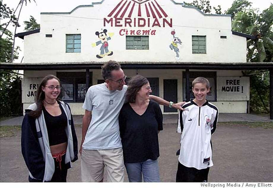 "REEL02 (L-R) Georgia, John, Janet and Wyatt Piersons in front of 180 Meridian Cinema  from movie ""Reel Paradise""  amy elliott / Wellspring Media Photo: Amy Elliott"