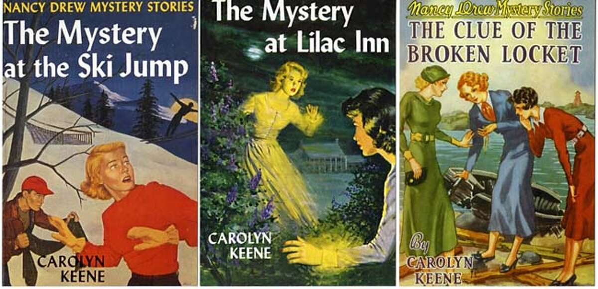 """""""Nancy Drew"""" original book covers appear on postcards published by Chronicle Books."""