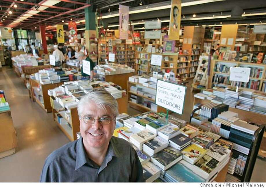 Kepler's owner Clark Kepler inside the Menlo Park store.  Kepler's Books in Menlo Park celebrates its 50th anniversary on May 14. Owner Clark Kepler has worked at the store since 1979 and eventually took over the business from his father Roy Kepler.  Photo by Michael Maloney / San Francisco Chronicle Photo: Michael Maloney