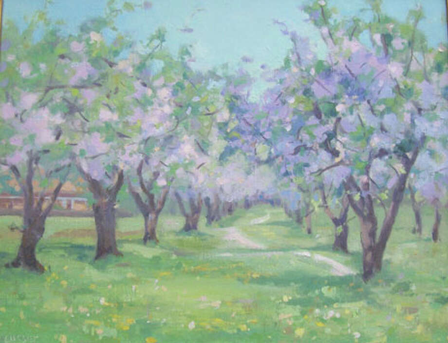 'Orchard Path' in acrylic by Barbara Lussier. Photo: Contributed Photo