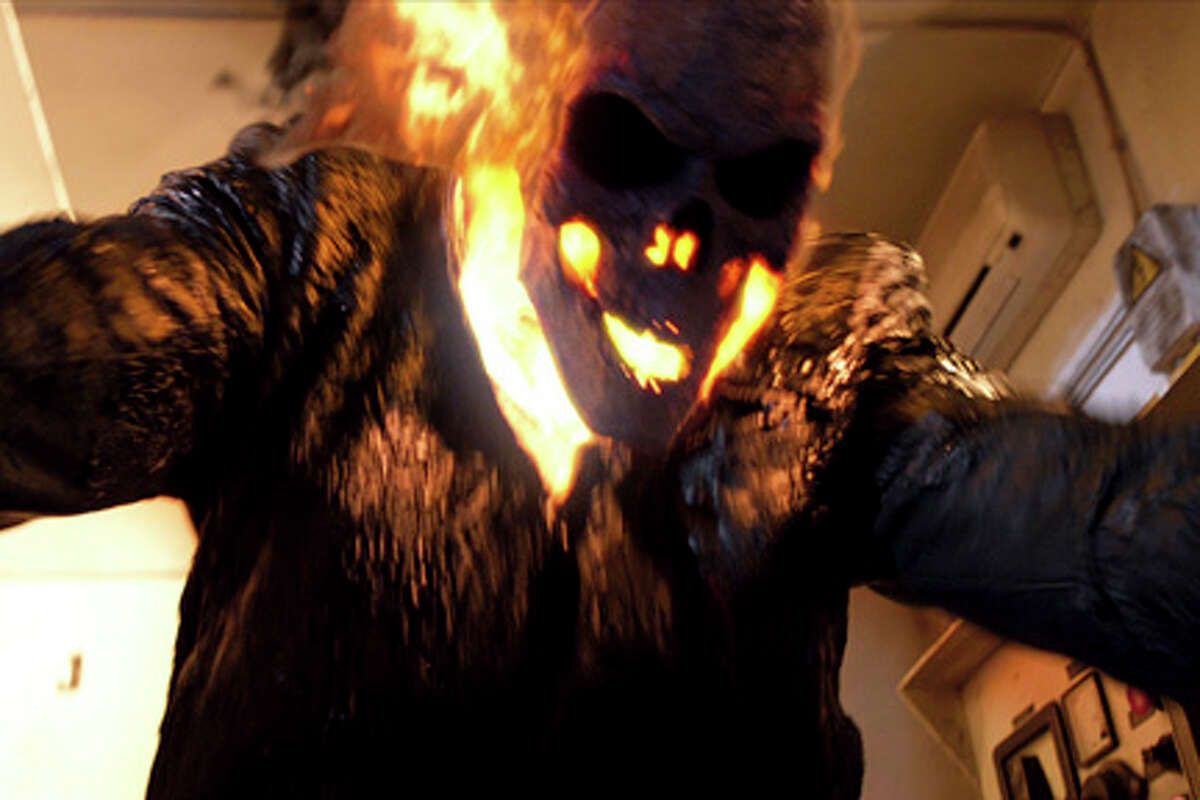Nicolas Cage as Ghost Rider in