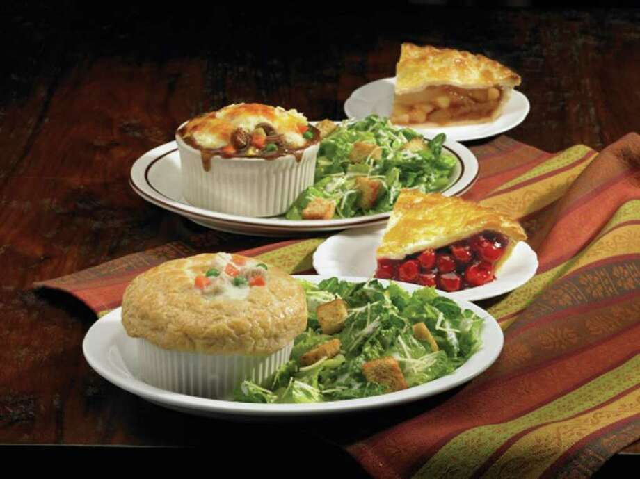In honor of National Pie Day Monday, Marie Callender's is offering a special beginning tomorrow, which runs through March 29. Diners have their choice of chicken pot pie or shepherd's pie, served with a Caesar salad and a slice of Marie's famous pie for $10.99