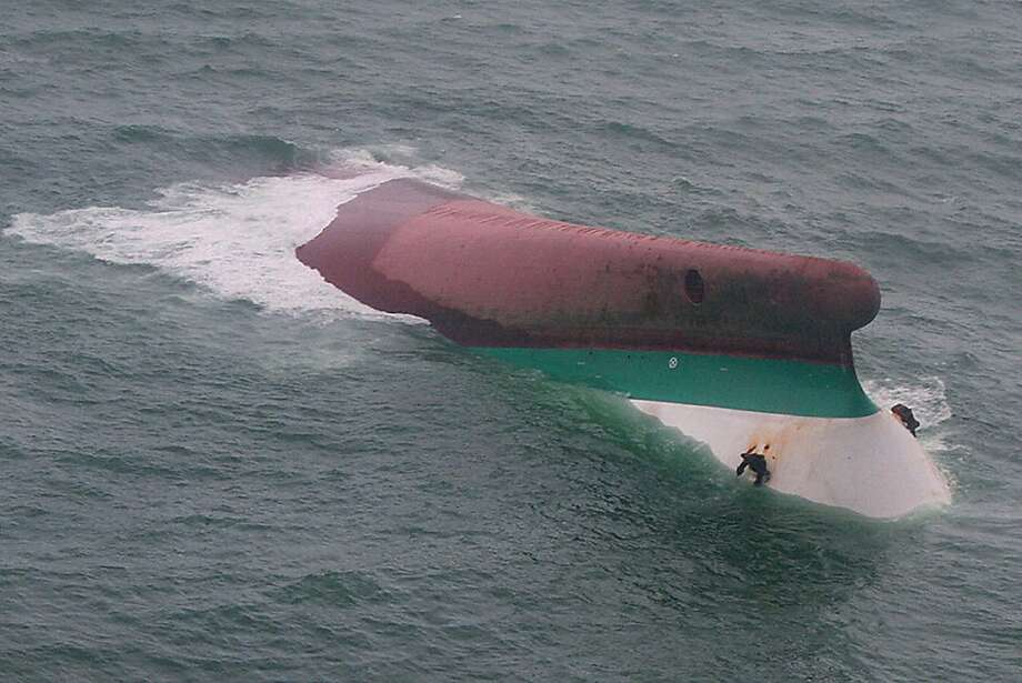 A victim of Typhoon Fengshen, the MV Princess of the Stars capsized off the coast of the Philippines in June 2008.  An estimated 750 people were aboard the Princess of the Stars, and only 57 survived. Photo: Anonymous