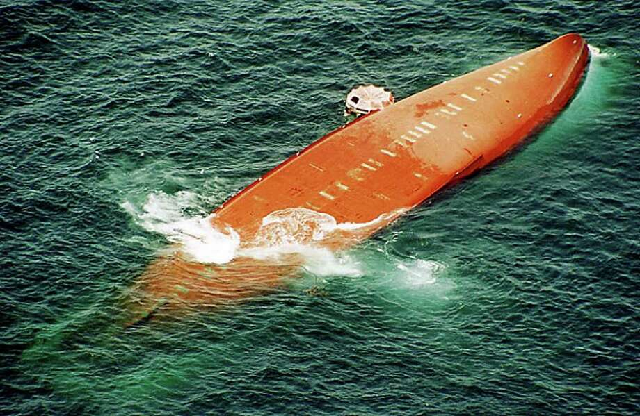 In 2002, the passenger ferry MS Joola capsized off the coast of Senegal, killing at least 1,863. According to reports, the ship capsized in a fierce storm with rough winds. The Joola was only designed to hold 500 passengers, but nearly 2,000 were on board at the time of the accident. Photo: Anonymous, ASSOCIATED PRESS / AP2002