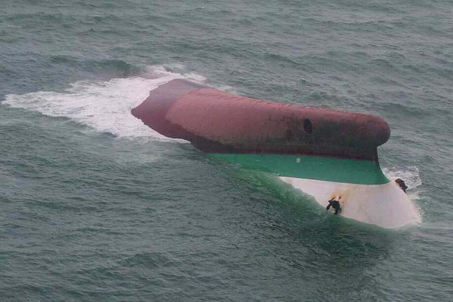 A victim of Typhoon Fengshen, the MV Princess of the Stars capsized off the coast of the Philippines in June 2008.  An estimated 750 people were aboard the Princess of the Stars, and only 57 survived. Photo: Anonymous, ASSOCIATED PRESS / AP2008
