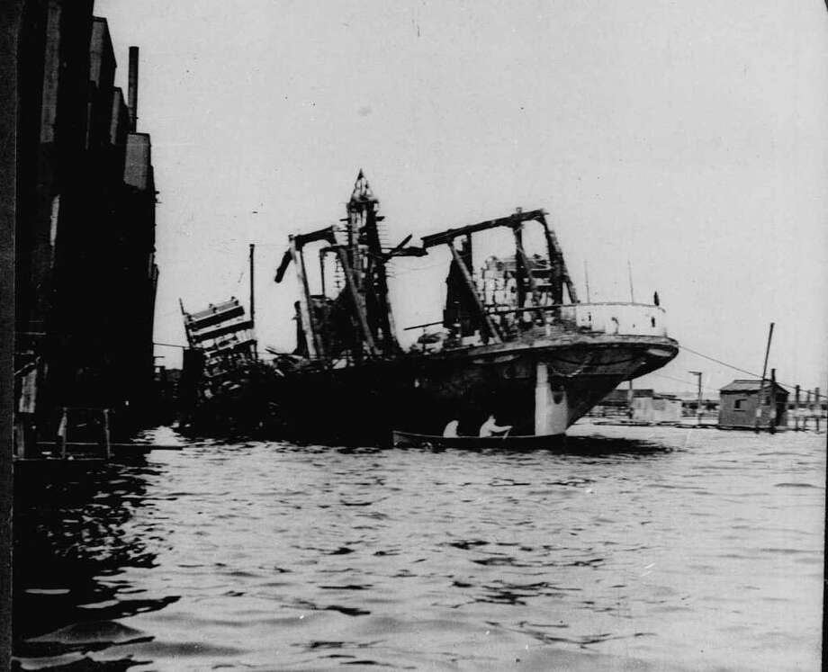 Pictured above in 1904, the excursion boat General Slocum lies beached in New York City's East River following a fire and resulting panic. The disaster cost the lives of 1,030 mostly German immigrants. It was the worst mass casualty incident in New York City until the September 11, 2001 terrorist attacks. Photo: ASSOCIATED PRESS / AP1904
