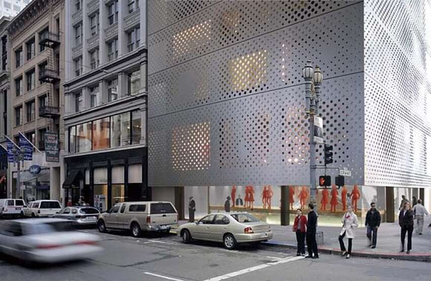 computer renditions of the 10-story Prada West Coast Headquarters that would have a stainless steel exterior. architect is Rem Koolhass. Location is the southeast corner of Post St. and Grant Avenue. Handout art ALSO RAN 8/15/2001 CAT