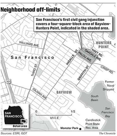 Neighborhood Off-Limits. Chronicle Graphic