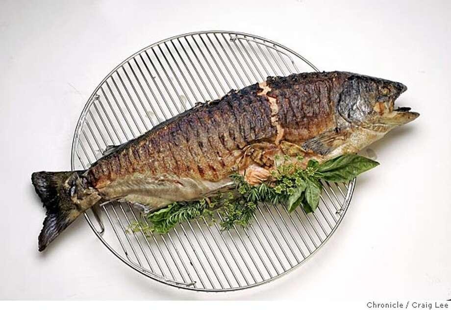 how to gut big salmon fish
