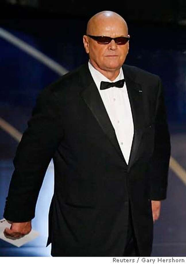 Jack Nicholson walks on stage to present the Oscar for best picture at the 79th Annual Academy Awards in Hollywood, California, February 25, 2007. REUTERS/Gary Hershorn (UNITED STATES - OSCARS) 0 Photo: GARY HERSHORN