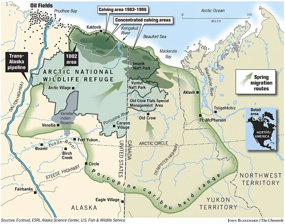 Arctic National Wildlife Refuge. Chronicle graphic by John Blanchard