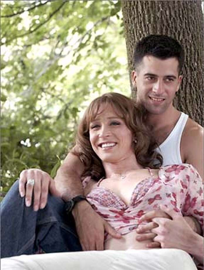 THIS IS A HANDOUT IMAGE. PLEASE VERIFY RIGHTS. SOLDIER'S GIRL-C-28MAY03-DD-HO  SOLDIER'S GIRL is the true story of Barry Winchell, a soldier at Fort Campbell, Kentucky, who in 1999 fell in love with Calpernia Addams, a beautiful trans-gendered nightclub performer from Nashville. In the closed, rigid world of the army, their love affair created jealousy and misunderstanding among Barry's fellow soldiers. Rumors spread that Barry was gay. Eventually, on Fourth of July weekend, as Calpernia was winning Miss Tennessee Entertainer of the Year, Barry's Iago-like roommate Justin Fisher goaded another soldier into brutally murdering Barry. Photo: HO