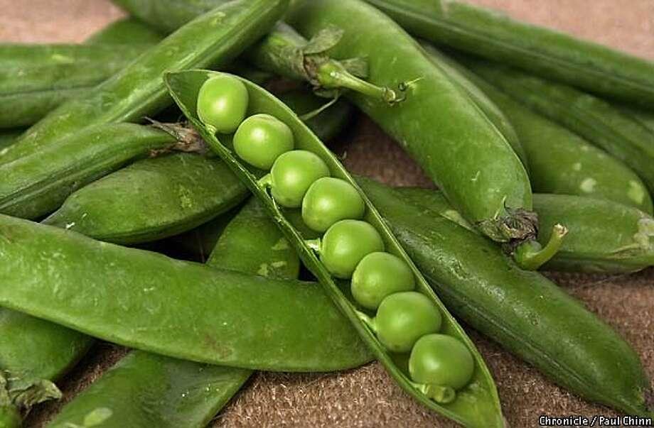 ENGLISHPEAS-C-09MAY02-FD-PC  English peas. An assortment of produce items for the Produce Bin column.  PAUL CHINN/S.F. CHRONICLE Photo: PAUL CHINN