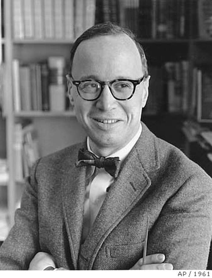 This is a photo of Harvard Professor Arthur M. Schlesinger Jr. in Cambridge, Ma., on Jan. 25, 1961. He was the special assistant to President Kennedy. (AP Photo)