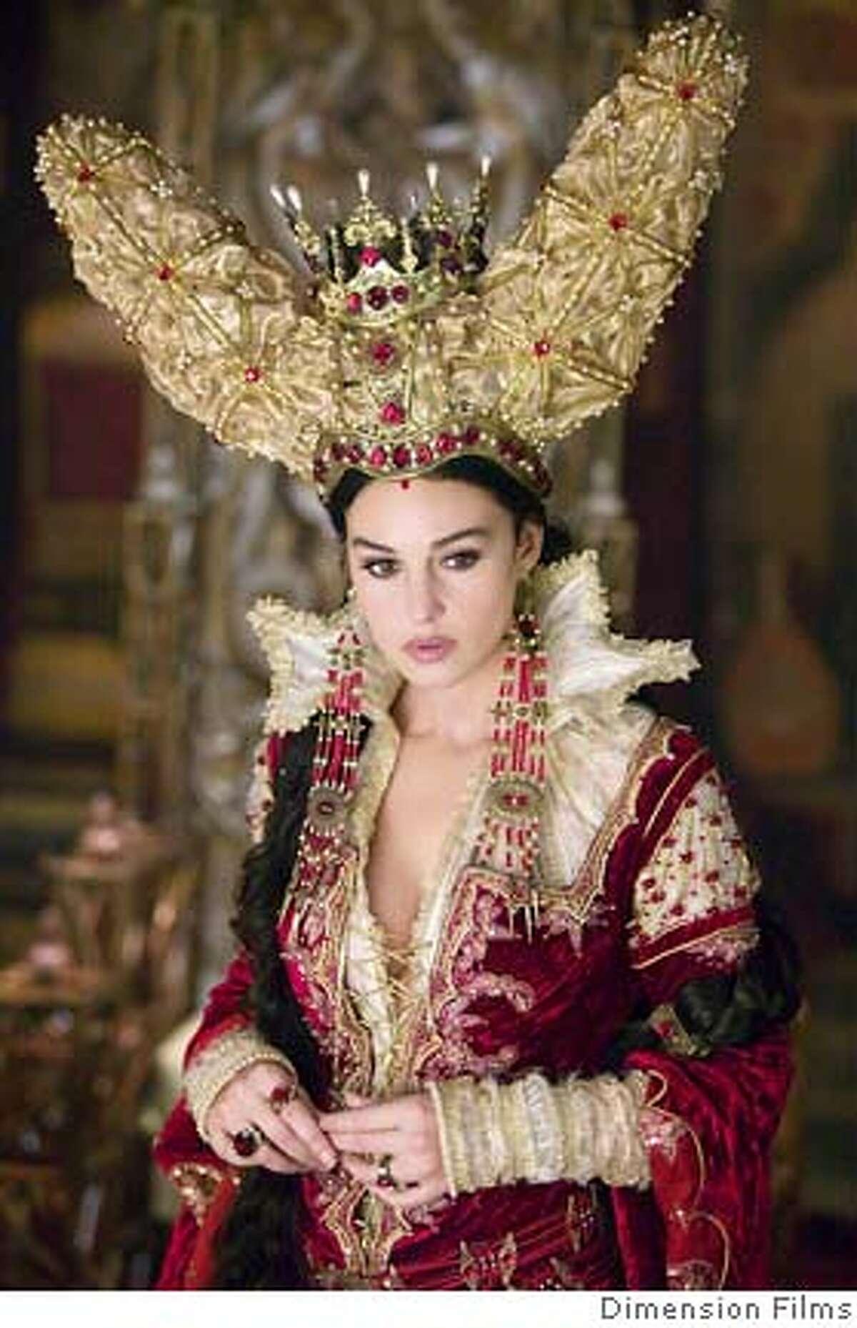 Italian actress Monica Bellucci is Queen Mirror in the movie