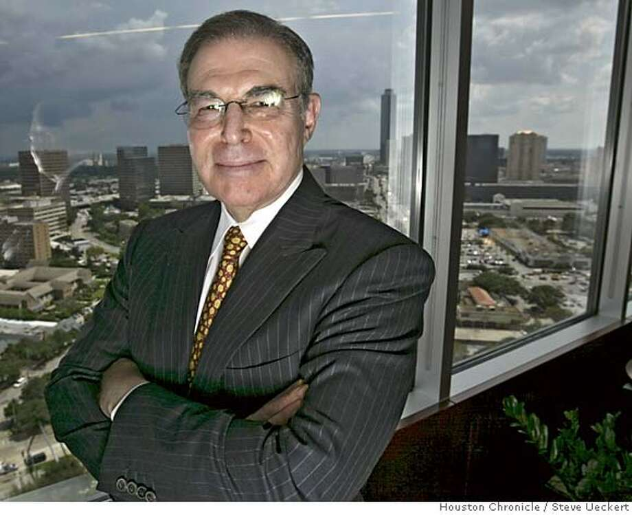 Charles Hurwitz stands in his office Wednesday, Aug. 24, 2005, in Houston. A federal judge on Tuesday ordered the Federal Deposit Insurance Corp. to pay Hurwitz $72.3 million in attorneys fees for its failed lawsuit against him over a defunct savings and loan. (AP Photo/Houston Chronicle, Steve Ueckert) NO MAGS, Photo: STEVE UECKERT
