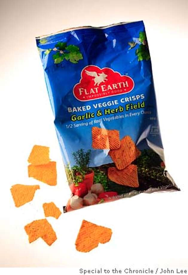 WHATS21_04JOHNLEE.JPG  Flat Earth Mighty Flat garlic and herb field chips.  By JOHN LEE/SPECIAL TO THE CHRONICLE Photo: JOHN LEE