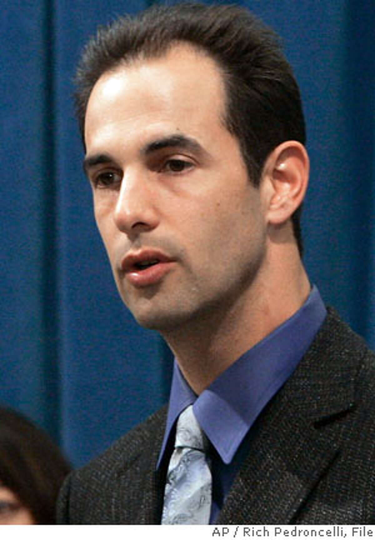 Assemblyman Lloyd Levine, D- Sherman Oaks, right, answers a question concerning the assisted suicide measure he and Assemblywoman Patti Berg, D-Eureka, left, introduced at a Capitol news conference in Sacramento, Calif., Thursday, Feb. 15, 2007. The bill is the third attempt by lawmakers to make California the second state in the country where doctors could give dying patients life-ending drugs. (AP Photo/Rich Pedroncelli)