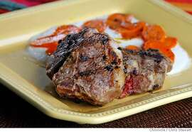 {filename .}  Lamb Chops with Cumin Glazed Carrots for Working Cook column. Photographed February 22, 2007.  Chris Stewart / The Chronicle Lamb Chops with Cumin Glazed Carrots, Working Cook MANDATORY CREDIT FOR PHOTOG AND SF CHRONICLE/NO SALES-MAGS OUT