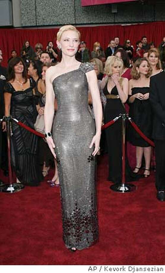 "Australian actress Cate Blanchett, nominated for an Oscar for best actress in a supporting role for her work in ""Notes on a Scandal,"" arrives for the 79th Academy Awards Sunday, Feb. 25, 2007, in Los Angeles. (AP Photo/Kevork Djansezian) Photo: Kevork Djansezian"