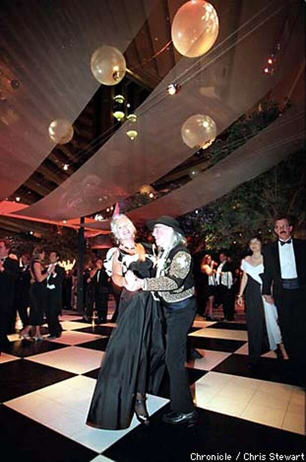 Through the years, dancers at the Black & White Ball have gotten creative with their attire. Chronicle photo by Chris Stewart