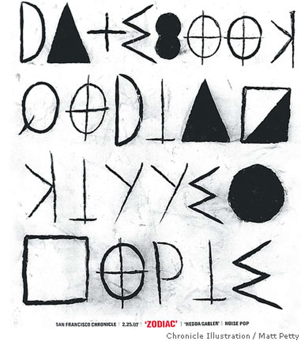 'Zodiak' Datebook Cover. Chronicle illustration by Matt Petty