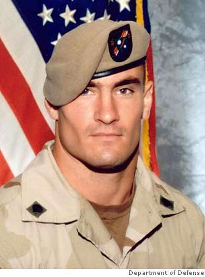 The U.S. Army determined days after Army Ranger Pat Tillman's 2004 death in Afghanistan that the former professional football player had been killed by friendly fire, but kept it secret for weeks and even destroyed evidence, Army officials said May 4, 2005. A 1,600-page report by Brig. Gen. Gary Jones of the Army Special Operations Command found that the Army did not tell his family or the public that Tillman, pictured in this undated photograph, had been killed mistakenly by fellow Rangers until weeks after his nationally televised memorial service, officials said. EDITORIAL USE ONLY REUTERS/DOD/HO Ran on: 05-23-2005  Pat Tillman died in Afghanistan in April 2004 in a barrage of gunfire from his own men. Ran on: 05-23-2005  Pat Tillman died in Afghanistan in April 2004 in a barrage of gunfire from his own men. Ran on: 05-23-2005  Pat Tillman died in Afghanistan in April 2004 in a barrage of gunfire from his own men. Photo: HO