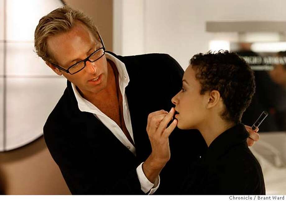 fivequestions003.JPG  Tim Quinn applies makeup to the lips of Bianca Warren. He will soon be going down south for the Academy Awards.  Tim Quinn, a celebrity makeup artist for the Giorgio Armani cosmetics line worked his magic on model Bianca Warren at the Saks Fifth Avenue store on Union Square Thursday.  {Brant Ward/San Francisco Chronicle}2/22/07 Photo: Brant Ward