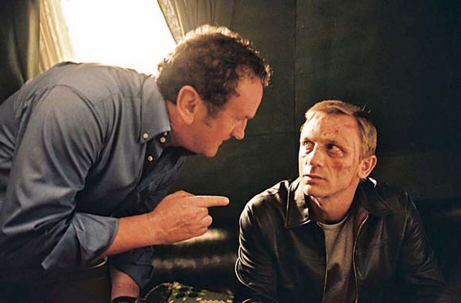 """Still from the movie """"Layer Cake,"""" actors are Colm Meaney (left) and Daniel Craig. Ran on: 05-15-2005  Daniel Craig's rumored status as the next James Bond had his mom shooing press from her door."""
