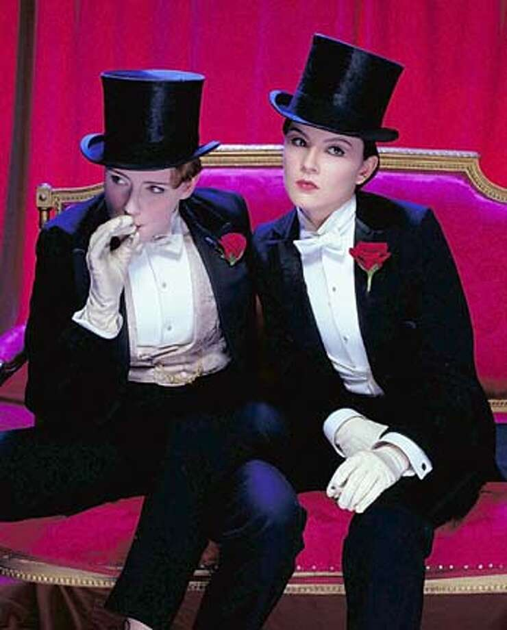 "** ADVANCE FOR WEEKEND EDITIONS, MAY 23-26 **Keeley Hawes, left, as Kitty Butler and Rachael Stirling as Nan Astley are shown in this undated promotional photo for the BBC drama ""Tipping the Velvet"", a tale of lesbian love based on the book by Sarah Waters of the same name published in 1998 and set in the music halls, mean streets and posh parlors of Victorian London. The three-part adaptation airs on BBC America May 23, 24 and 25 (10 p.m. Eastern). (AP Photo/BBC Worldwide)"