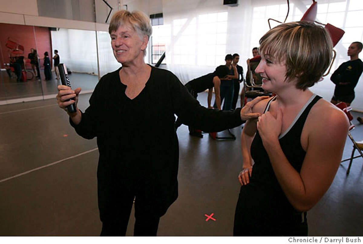 .JPG Brenda Way, artistic and executive director of ODC Dance Center, directs dancers including dancer Andrea Flores, right, for the upcoming