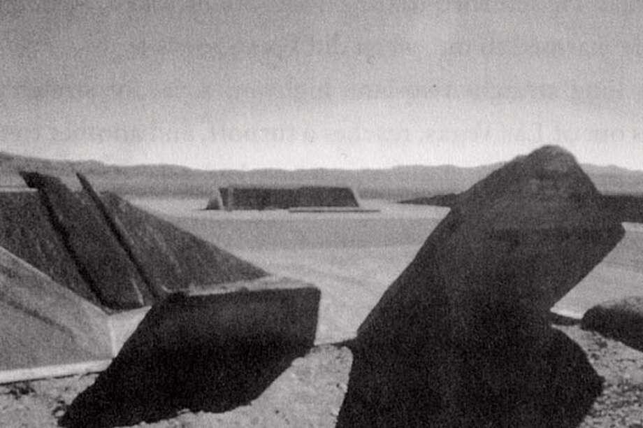 "Michael Heizer's ""city"" complexes 1,2,3"