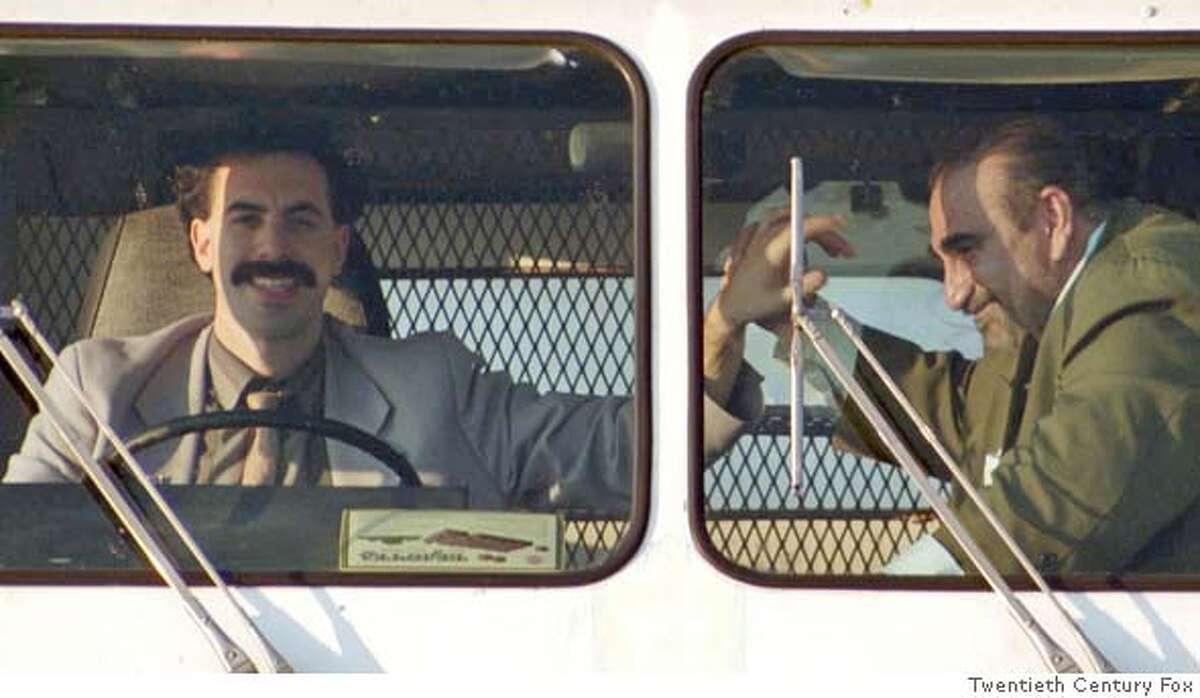 B-15 Borat and Azamat (Ken Davitian) enjoy riding in ice cream truck. (Multiple values)