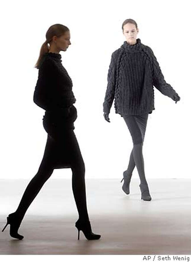 Models wear clothes from the Calvin Klein 2007 fall collection at Fashion Week in New York, Thursday, Feb. 8, 2007. (AP Photo/Seth Wenig) Photo: Seth Wenig