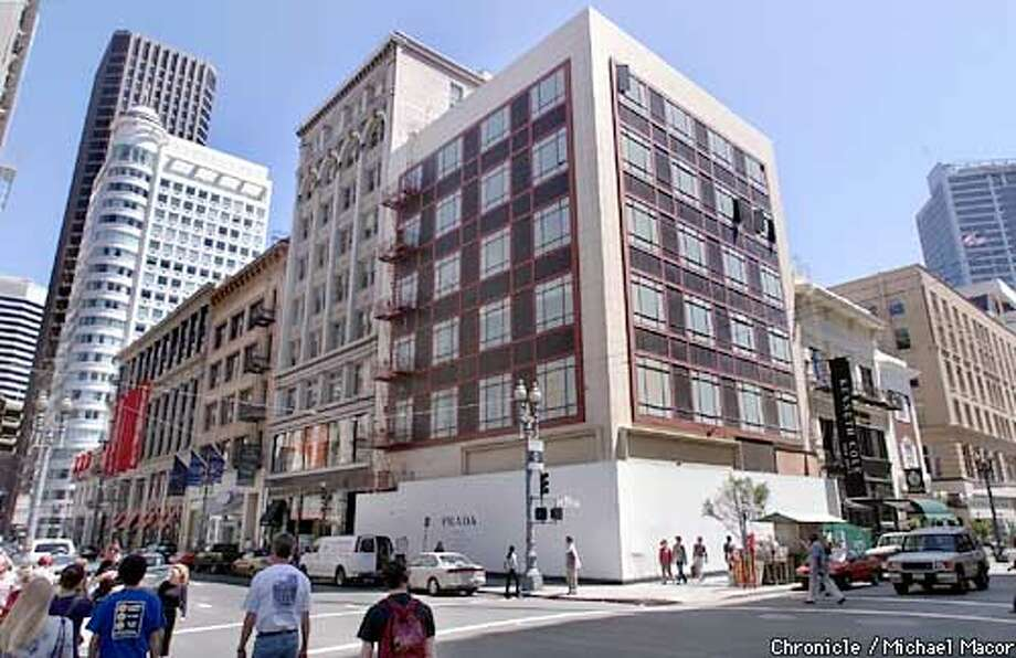 Proposed location at the corner of Post and Grant Streets, of the Prada Building in downtown San Francisco. by Michael Macor/THe Chronicle Photo: MICHAEL MACOR