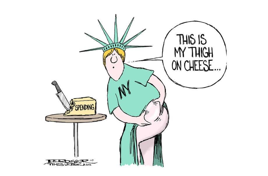 New York bloated on the cheese of spending. Photo: John De Rosier
