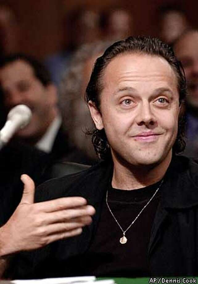 Lars Ulrich, a member of the rock band Metallica, testifies on Capitol Hill Tuesday, July 11, 2000, before a Senate Judiciary Committee hearing to study the future of . (AP Photo/Dennis Cook) Photo: DENNIS COOK