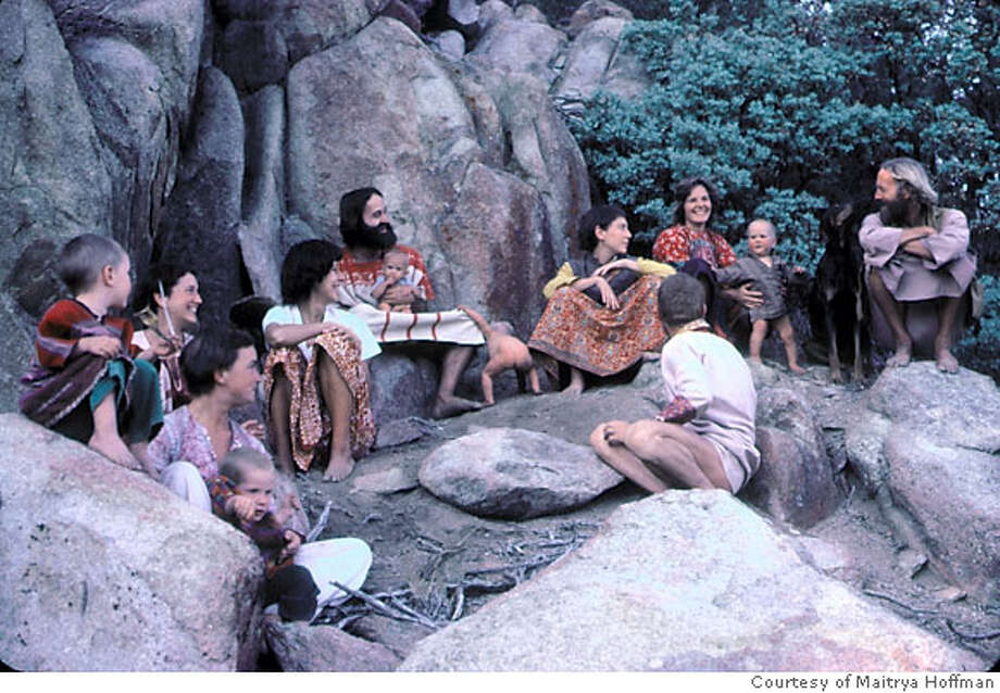 Group photo of the Shivalia cult in California c. 1975. Photo courtesy Maitrya Hoffman. Photo: Photo Courtesy Maitrya Hoffman.