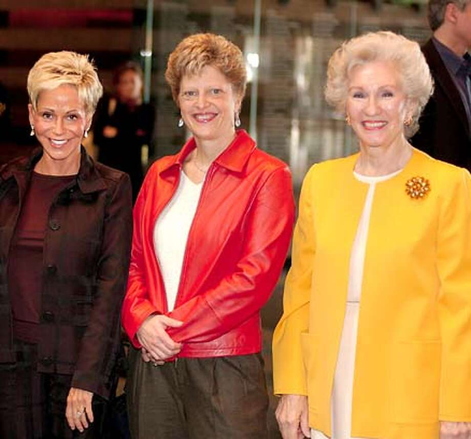 Carey Perloff (center) was recently made a knight by the French government for her contribution to the arts.